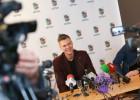 Foto: Porziņģis dzimtajā Liepājā paziņo par gatavību spēlēt Latvijas izlasē