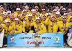 Foto: Zviedrijas izlase līksmo par pasaules čempionāta zeltu