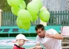 Foto: Ernests Gulbis atklāj bērnu tenisa festivālu
