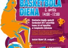 """Basketbola diena 2.aprīlī tirdzniecības centrā """"Domina Shopping"""""""