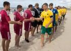 Latvijas pludmales futbola izlase pieveic Lietuvu