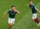 Zibenīgie meksikāņi pirmajā spēlē sagādā <i>aukstu dušu</i> čempionei Vācijai