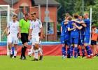 U18 futbolisti pārbaudes spēlē piekāpjas islandiešiem