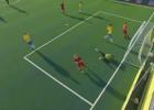 Video: Latvijas minifutbola izlase PK ievadā piedzīvo minimālu zaudējumu Brazīlijai