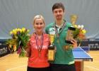 Reinholds un Kļimanova uzvar Latvijas čempionātā galda tenisā