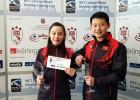 Ar Ķīnas jauktā pāra uzvaru Rīgā noslēdzies pasaules kērlinga tūres posms