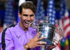 """Nadals aptur Medvedeva atspēlēšanās mēģinājumu un izcīna ceturto """"US Open"""" titulu"""