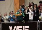 """Foto: """"VEF Rīgas skolu superlīgas"""" čempioni """"Četrdesmitdevītie"""" tiek cauri ar izbīli"""
