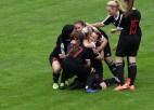 """Video: """"Liepājas"""" futbolistes izcīna pirmo uzvaru Baltijas līgā"""