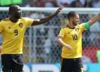 Azārs un Lukaku jau pirmajā puslaikā nokārto Beļģijai vēl vienu uzvaru
