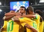 Sensācija izpaliek - Brazīlija neatstāj variantus serbiem un soļo tālāk