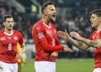Šveice sasit Beļģijai piecus vārtus un atņem pirmo vietu, igauņi uzvar Grieķijā