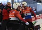 Putins un Marcinkēvičs par 0.002 sekundēm apsteidz brāļus Šicus un iegūst sesto vietu