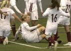"""Video: """"Dinamo Rīga"""" ielaužas sieviešu futbolā ar titulētās """"Rīgas Futbola skolas"""" pieveikšanu"""