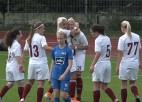 """Video: Sieviešu Futbola Līgas līderu derbijā """"Dinamo Rīga"""" atstāj sausā RFS"""