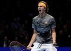 Čempions Zverevs kļūst par pēdējo pusfinālistu Londonā, Nadals brauc mājās