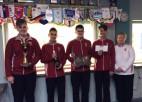"""Junioru puišu izlase paliek nepārspēta """"Riga Junior Open"""" kērlinga turnīrā"""