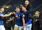 """""""Atalanta"""" debijas sezonā ČL <i>ielec</i> 1/8 finālā"""