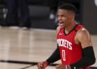 """Aizekam krustenisko saišu plīsums, """"Rockets"""" pārspēj NBA līdervienību """"Bucks"""""""