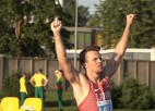 Video: Grīva ar personīgo rekordu nodrošina Latvijai dubultuzvaru šķēpmešanā