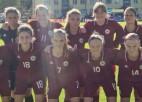 U17 futbolistes sagrauj igaunietes un triumfē Baltijas kausā