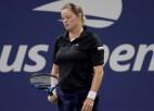 """Klijstersa pēc cerīga sākuma zaudē pirmajā """"Grand Slam"""" mačā kopš 2012. gada"""