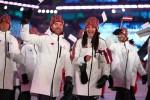 Foto: Latvijas delegācija cēli soļo olimpisko spēļu atklāšanas ceremonijā