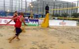 Foto: Batumi pludmales volejbols pārvēršas par akvabolu (+video)