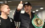 Foto: WBC pasaules čempions Briedis atgriežas Latvijā