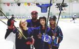 Foto: Daiļslidotāja Ņikitina uzstājas ledus halles jubilejā