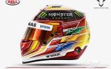 Foto: Hamiltons F1 sezonai izvēlas līdzjutēja veidotu ķiveres dizainu