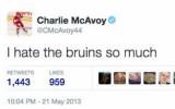 """Foto: Internets nepiedod: """"Bruins"""" draftētais spēlētājs ienīst """"Bruins"""""""