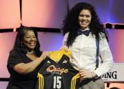 Zviedriete Zahui WNBA draftā izvēlēta ar otro numuru