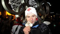Martins Dukurs saņem olimpisko sudraba medaļu