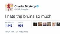 """Internets nepiedod: """"Bruins"""" draftētais spēlētājs ienīst """"Bruins"""""""