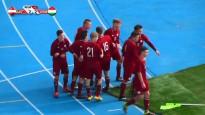 Latvijas U19 izlase parāda raksturu un pārspēj ungārus