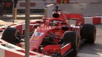 F1 zvaigzne Fetels festivāla laikā Milānā iebrauc barjerā