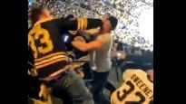 Fani kaujas, apmeklējot NHL finālu