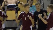 Latvijas U19 futzāla izlase savā 20.pārbaudes spēlē pārspēj baltkrievus