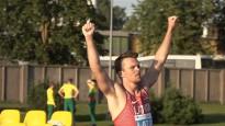Grīva ar personīgo rekordu nodrošina Latvijai dubultuzvaru šķēpmešanā