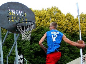 """7. jūnija """"Ghetto Basket"""" naglas - """"Slam dunk"""" konkurss un himnas prezentācija"""