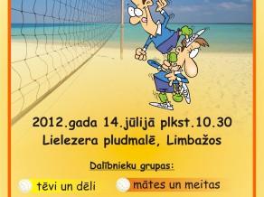 Latvijas 1. Tēvu un dēlu pludmales volejbola turnīrs Limbažos