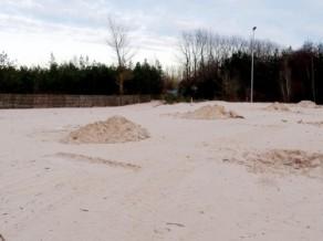 Ventspilī pabeidz pludmales volejbola stadiona būvniecības darbus