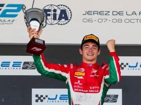 """""""Ferrari"""" audzēknis Leklerks kļūst par Formula 2 čempionu"""