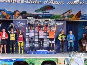 Četri Latvijas jaunieši labāko sešiniekā Eiropas čempionātā BMX riteņbraukšanā