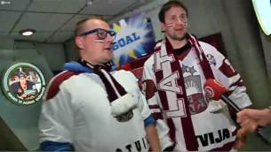 Video: Latvijas hokejistu un līdzjutēju rituāli