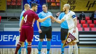 Latvijas telpu futbola izlasei pret Šveici un Spāniju būs jāiztiek bez kapteiņa Seņa