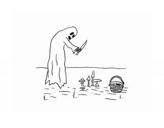 """Kristiana Brektes personālizstāde """"Asins lietus"""" galerijā Istaba"""
