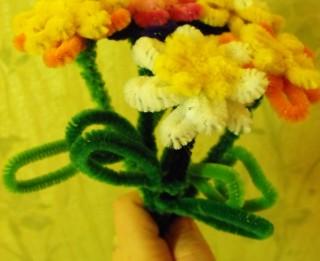 Foto: Spalvu drāts puķītes. soli pa solim.