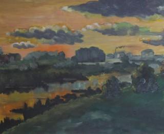 Rasmas Bērziņas gleznu izstāde LIKTEŅUPE DAUGAVA